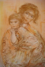 Ingrid and Baby - Artist Proof and Pastel