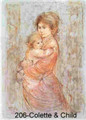 Collette and Child - Artist Proof and Pastel
