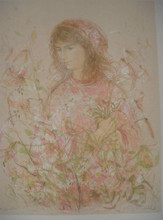 Girl with Lillies