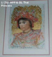 Thai Princess - Artist Proof and Pastel