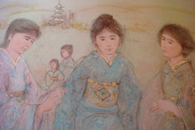 Japanese Girls - Artist Proof and Pastel