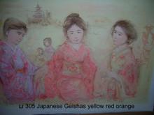 Japanese Girls - yellow, red, orange