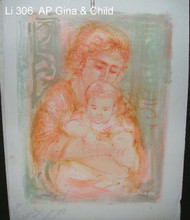 Gina and Child - Artist Proof with notes