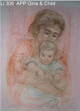 Gina and Child - Artist Proof and Pastel