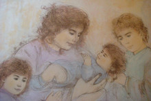 Marilyn and Children - Artist Proof and Pastel