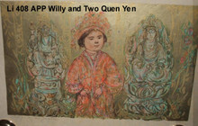 Willy and Two Quan Yins - Artist Proof and Pastels