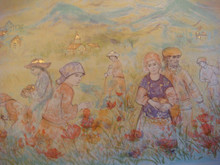 Fields of Granoblie - Artist Proof and Pastel with Gold