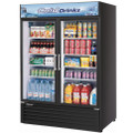 Turbo air Reach-in Cooler with 2- Swing Glass Display Door. Model: TGM-50RSB  /By Turbo Air/