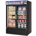 Turbo Air Reach-in Freezer with Two Swing Glass Display Door. Model: TGF-23F(B)