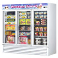 Turbo Air Reach-in Freezer with Three Swing Glass Display Door. Model: TGF-72F