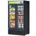 Turbo Air Reach-in Freezer with Two Swing Glass Display Door. Model: TGF-35SDVB
