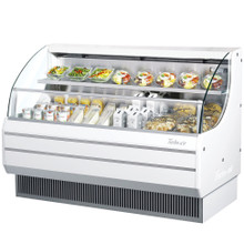 Americooler Horizontal Open Display Cases. Low Profile. Glass Side Panel. Model: TOM-60L(B)