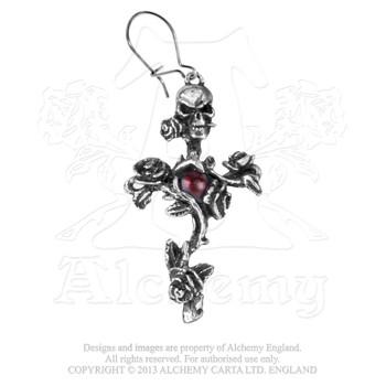 E130 - Rose Thorn Cross Earring