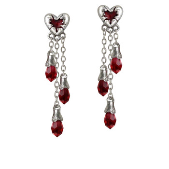 E272 - Bleeding Heart Earrings