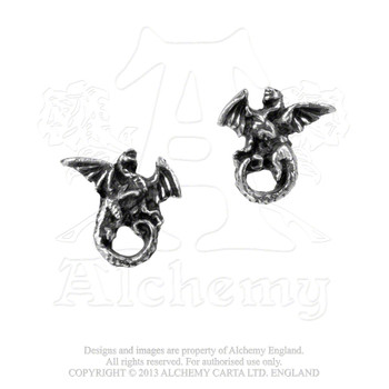 E279 - Whitby Wyrm Earrings