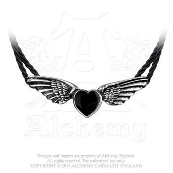 P410 - Coeur Noir Necklace