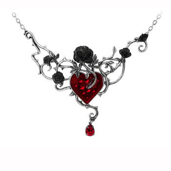 P630 - Bed Of Blood-Roses Necklace