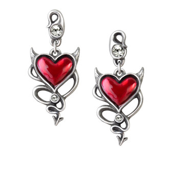 ULFE22 - Devil Heart Earrings