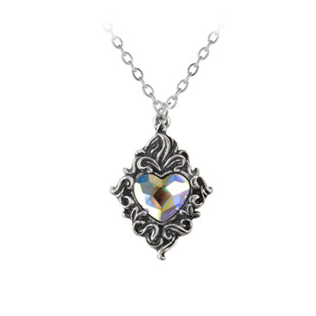 P711  - Crystal Heart Pendant
