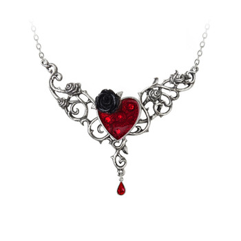 P721 - The Blood Rose Heart Pendant