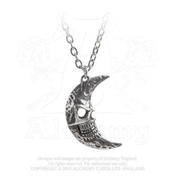 P783 - Crescens Tragicom Moon Pendant