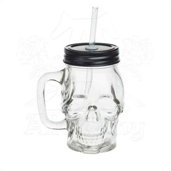 AGJ1 - Glass Skull Drinking Jar