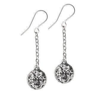E399 - Man In The Moon Dropper Earrings
