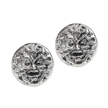 E400 - Man In The Moon Stud Earrings