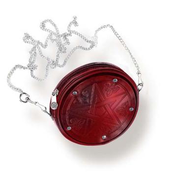 LG63 - Red Pentagram Purse