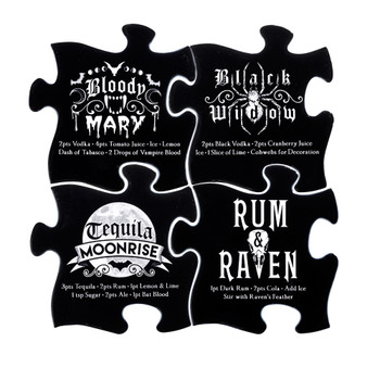 CJ1 - Gothic Cocktail Coaster Set