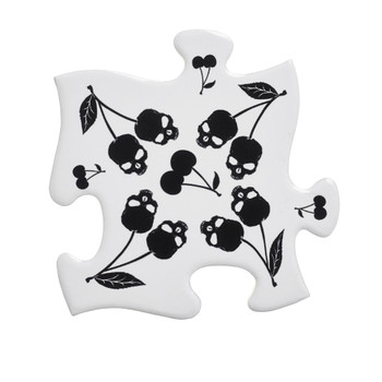 CJ4 - Black Skull Cherries Coaster Set