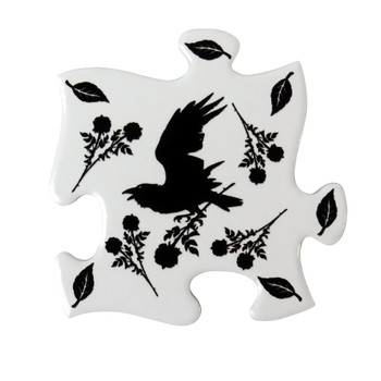 CJ5 - Black Raven & Rose Coaster Set