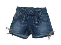 Women's Denim Lederhosen Shorts