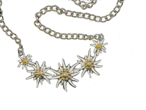 Metal Necklace w/5 Edelweiss