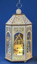 Christmas Wooden lantern LED lights.