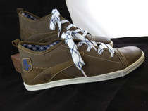 Men's sneaker shoe 'Staven' brown with blue trim