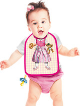 Itati Funny Apron Cooking BBQ Bavarian Specialties Frankenmuth_Baby Bib Girl