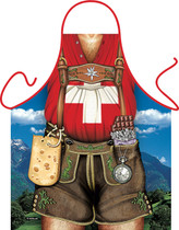Itati Funny Bavarian German Cooking BBQ Apron_Swiss Special Edition Apron