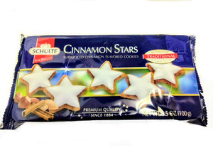 SCHULTE  Cinnamon Stars  SUGAR ICED CINNAMON FLAVORED COOKIES