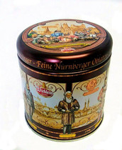 Meistersinger-Tin round, 4 single packed Lebkuchen