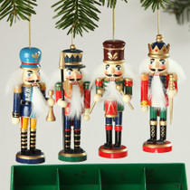 German Wood Nutcracker Ornament Assortment of 4