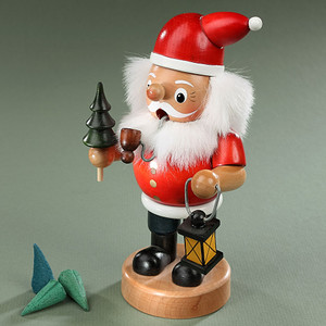 Smoker Santa Clause Tree/ Lantern Handcrafted by Pfaff Germany