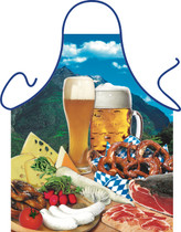 Itati Funny Bavarian German Cooking BBQ Apron - Mouthwatering Gemuelichkeit