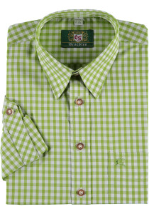 Trachten German Dress Shirt Bernd Long Sleeve Lime