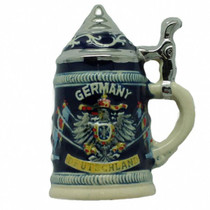 "This charming kitchen fridge magnet of a German beer stein will make for a great novelty gift idea or add a unique touch to your refrigerator. Approximate Dimensions (Length x Width x Height): 2.75x2x0.75"" Material Type: Ceramic"