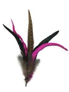Large Hat Feather with Edelweiss Pin
