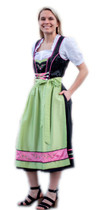 Dirndl Black/Pistachio/Rose