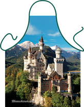 Itati Funny Bavarian German Cooking BBQ Apron - Neuschwanstein