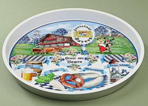 Bavarian Tin Serving Tray
