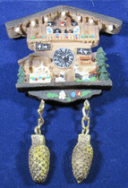 Magnet Cuckoo Alpenhaus Waterwheel  The magnet looks just like a Alpenhaus Cuckoo Clock.  Looks great on your refrigerator. Size: 3 x 2 x .5inch